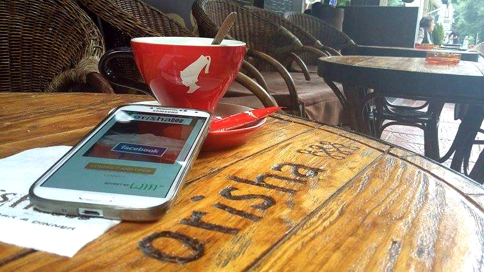 Orisha Bar & Dinner комуникира най-новите си оферти и Facebook страницата си